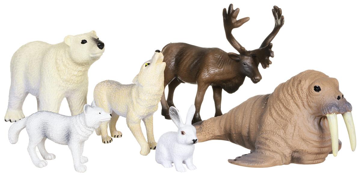 Wenno Набор фигурок Животные Арктики 6 штWAC06001Набор фигурок Wenno Животные Арктики познакомит вашего ребенка с окружающим миром. В набор входят шесть фигурок - белый медведь, волк, заяц и другие, которые имеют высокую степень сходства с настоящими животными. Фигурки выполнены с максимальной детализацией, чтобы дать ребенку представление о том, как выглядят животные в природе. Набор фигурок Wenno Животные Арктики - отличная возможность посетить зоопарк, не выходя из дома. Фигурки изготовлены из качественного материала, не токсичны и не вызывают аллергию. В набор входят карточки. Вам необходимо скачать сканер QR кодов, выбрать язык (по умолчанию - английский). Просканируйте QR код на каждой карточке, приложение покажет информацию о разных животных.