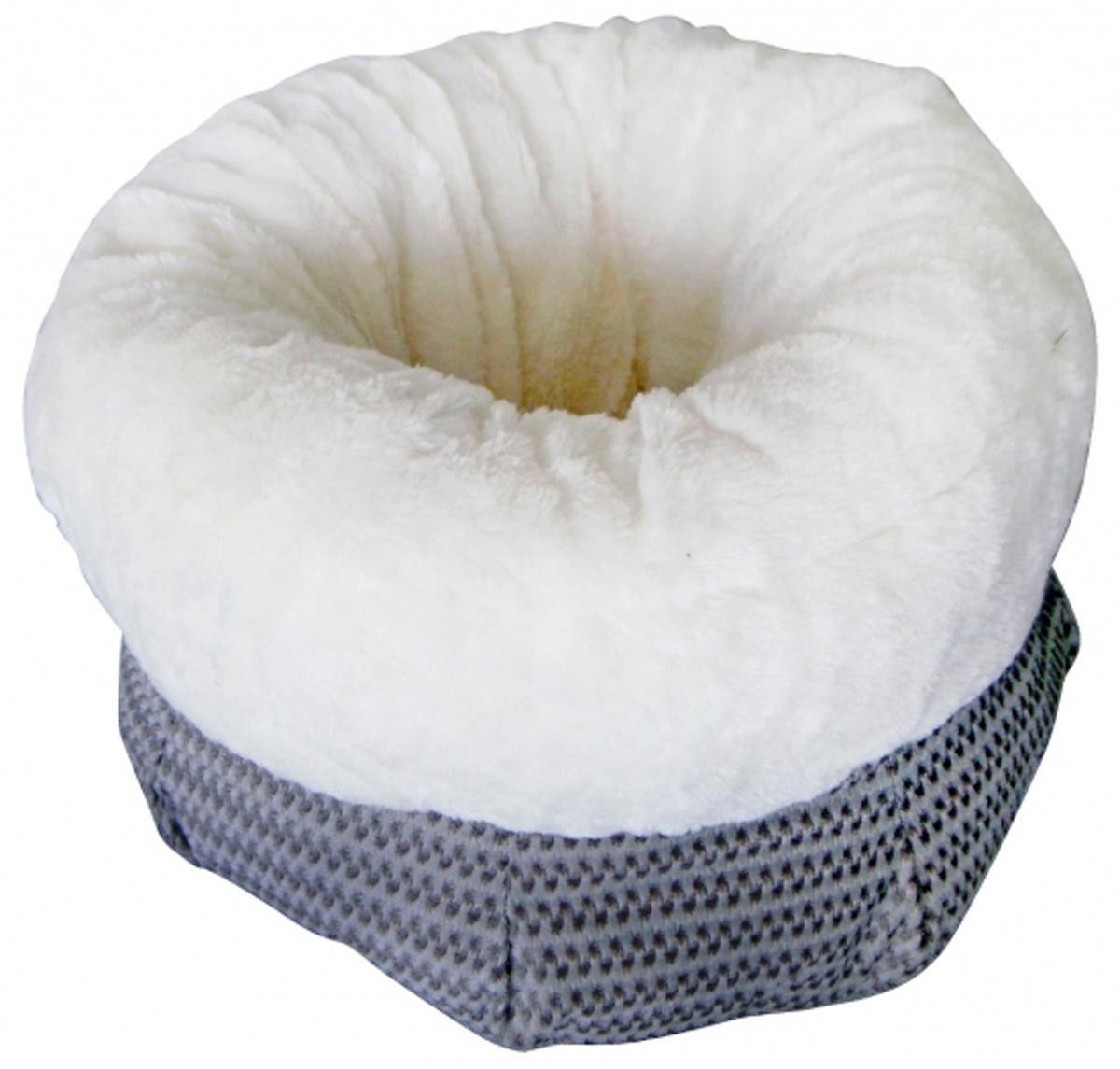 Лежак для животных FAUNA Bianka grey, цвет: белый, серый, 40 х 40 х 23 смFIDB-7500Мягкий лежак для животных FAUNA Bianka grey обязательно понравится вашему питомцу. Он выполнен из высококачественных материалов, а наполнитель - из мягкого поролона. Такой материал не теряет своей формы долгое время. Борта обеспечат вашему любимцу уют. Лежак FAUNA Bianka grey станет излюбленным местом вашего питомца, подарит ему спокойный и комфортный сон, а также убережет вашу мебель от многочисленной шерсти. Размер по верхнему краю: 40 х 40 см. Высота: 23 см.