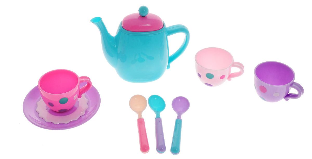 ABtoys Игровой набор Кофейный сервизPT-00367_чайник бирюзовыйСамое время пригласить друзей на кофе! Игрушечный кофейный сервиз ABtoys - это идеальный набор для приятной беседы! В набор входят чайник, 3 чашки, 3 ложки и тарелка. Этот набор для сюжетно-ролевой игры поможет девочкам развивать воображение и навыки общения, обмениваться знаниями и осваивать правила этикета. Набор изготовлен из безопасного и качественного материала. Игрушечный кофейный сервиз ABtoys - отличный способ научить девочку с детства быть хозяйкой в доме.