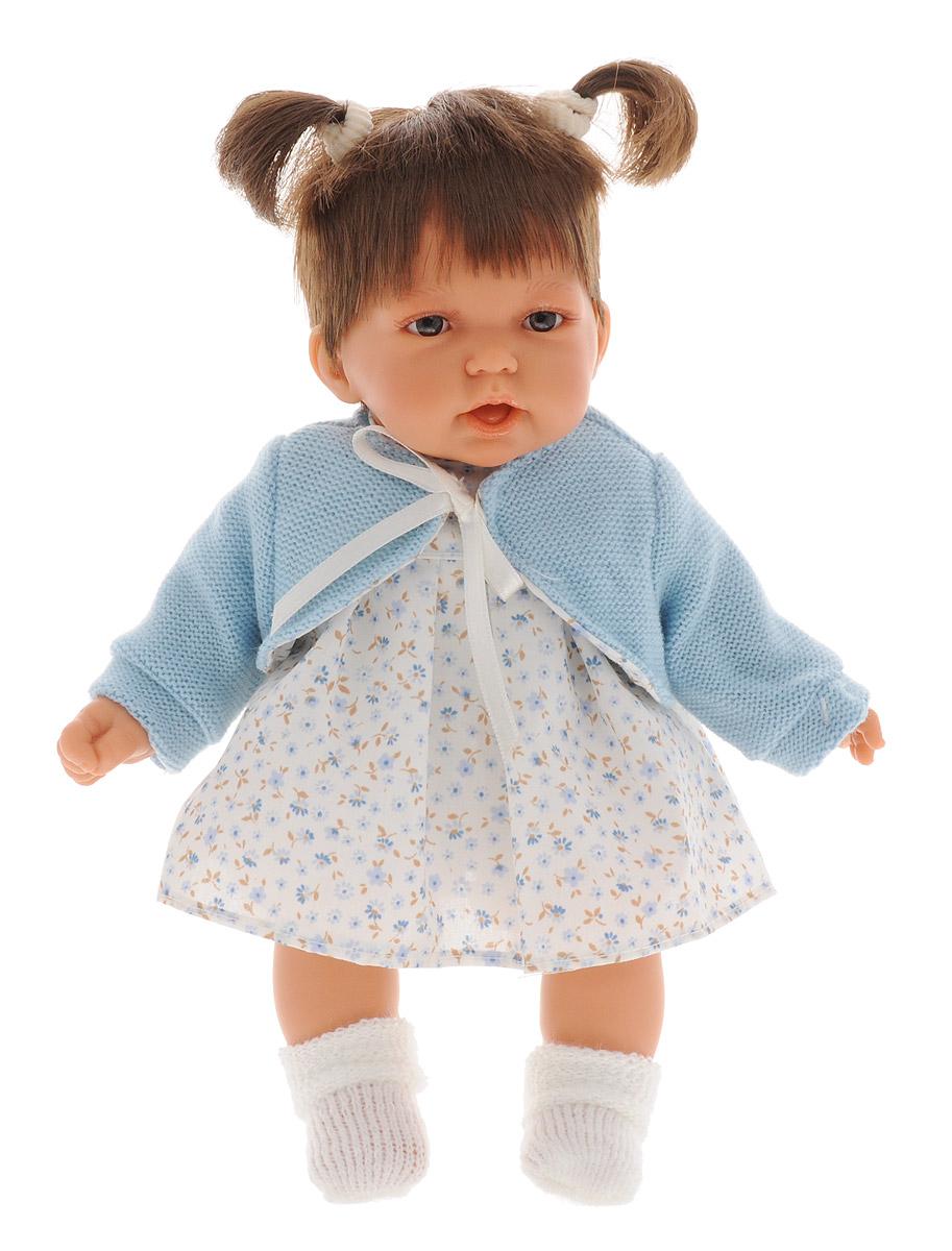 Juan Antonio Пупс Элис1227BПупс Antonio Juan Элис порадует вашу малышку и доставит ей много удовольствия от часов, посвященных игре с ней. Кукла с реалистичными серыми глазками выглядит совсем как настоящий ребенок. Она одета в платье, оформленное цветочным принтом, панталоны и очаровательную жилетку из искусственного меха, а на ножках у нее - вязаные носочки. Короткие темно-русые волосы куклы украшены двумя резинками и заплетены в хвостики. Кукла выполнена с анатомической точностью. Ручки, ножки и голова подвижны и изготовлены из высококачественного винила. Кукла имеет реалистичные глаза и нежные реснички. При нажатии на животик куклы, она скажет мама,папа и засмеется также реалистично как все смеются маленькие дети. Кукла имеет высокую степень детализации и заинтересует не только детей, но и взрослых коллекционеров. Игра с куклой разовьет в вашей малышке чувство ответственности и заботы. Порадуйте свою принцессу таким великолепным подарком! Munecas Antonio...