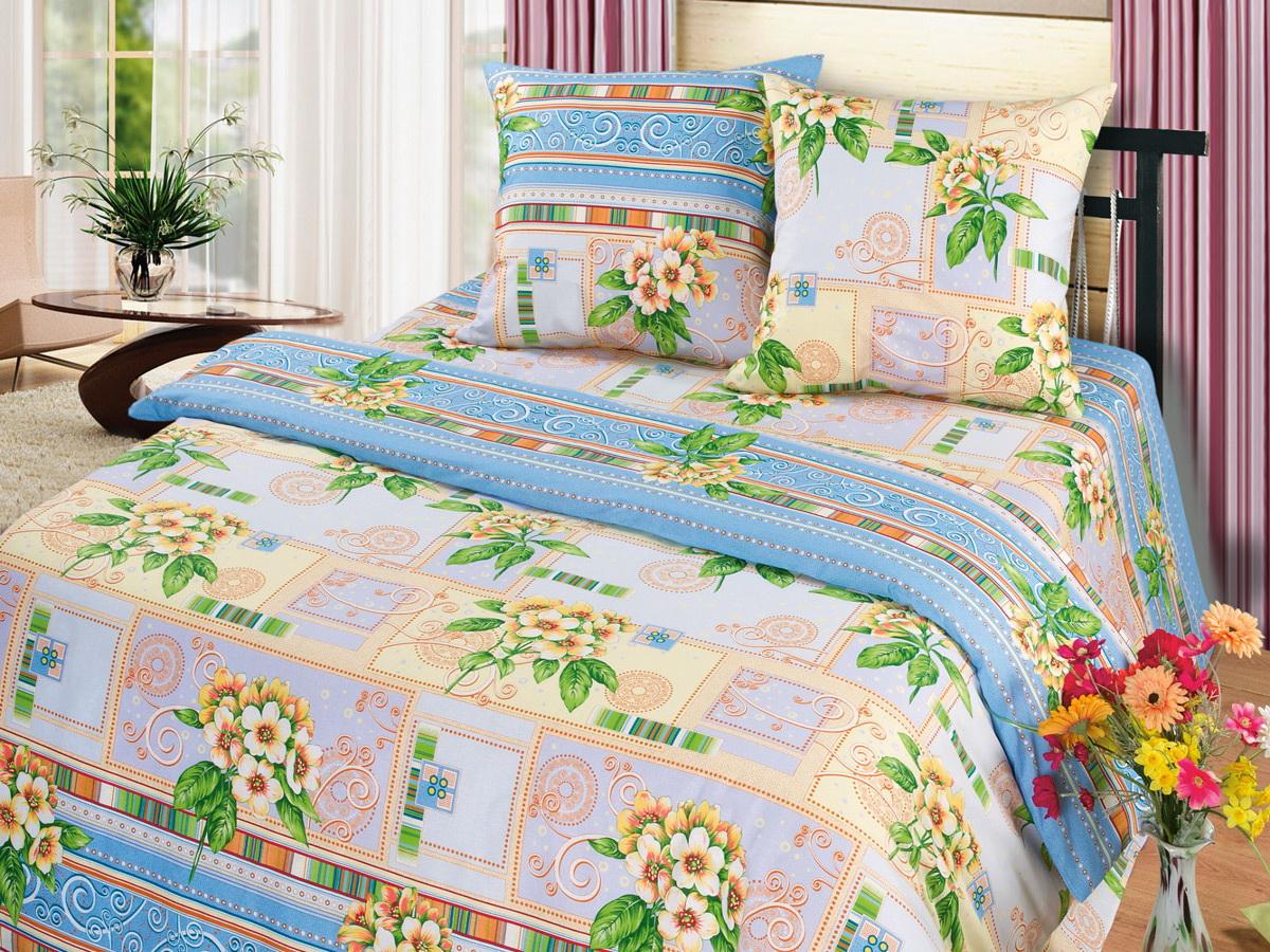Комплект белья Cleo Комплимент, 1,5-спальный, наволочки 70x7015/311-BКоллекция постельного белья из бязи CLEO – это классика сна. Вся коллекция выполнена из 100% хлопка, т.е. во время сна будет комфортно в любое время года! Благодаря пигментному способу нанесение печати, даже после многократных стирок (деликатный режим), постельное белье сохраняет свой первоначальный вид. Постельное белье из бязи имеет ряд уникальных свойств: экологичность, гипоаллергенность, благодаря особому способу переплетения нитей в полотне, обеспечивается особая плотность ткани, что делает ее устойчивой к износу, сохраняется внешний вид на долгие годы, загрязнения прекрасно отстирываются любыми средствами, не садится, легко гладится, не накапливает статического электричества, благодаря составу из 100% хлопка, обладает исключительной терморегуляцией. Комплект состоит из пододеяльника, двух наволочек и простыни.