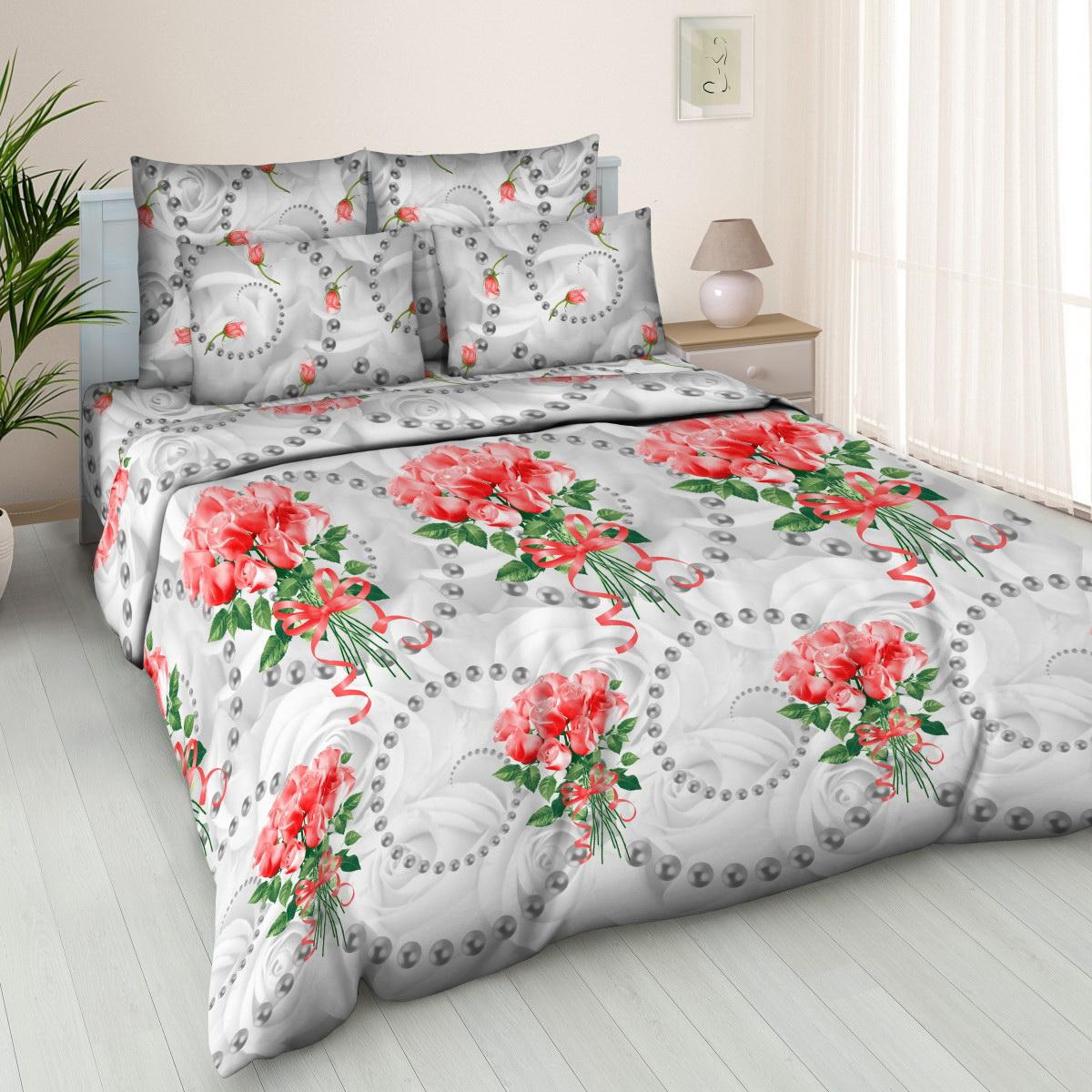 Комплект белья Cleo Жемчужная роза, 1,5-спальный, наволочки 70x7015/363-BКоллекция постельного белья из бязи CLEO – это классика сна. Вся коллекция выполнена из 100% хлопка, т.е. во время сна будет комфортно в любое время года! Благодаря пигментному способу нанесение печати, даже после многократных стирок (деликатный режим), постельное белье сохраняет свой первоначальный вид. Постельное белье из бязи имеет ряд уникальных свойств: экологичность, гипоаллергенность, благодаря особому способу переплетения нитей в полотне, обеспечивается особая плотность ткани, что делает ее устойчивой к износу, сохраняется внешний вид на долгие годы, загрязнения прекрасно отстирываются любыми средствами, не садится, легко гладится, не накапливает статического электричества, благодаря составу из 100% хлопка, обладает исключительной терморегуляцией. Комплект состоит из пододеяльника, двух наволочек и простыни.