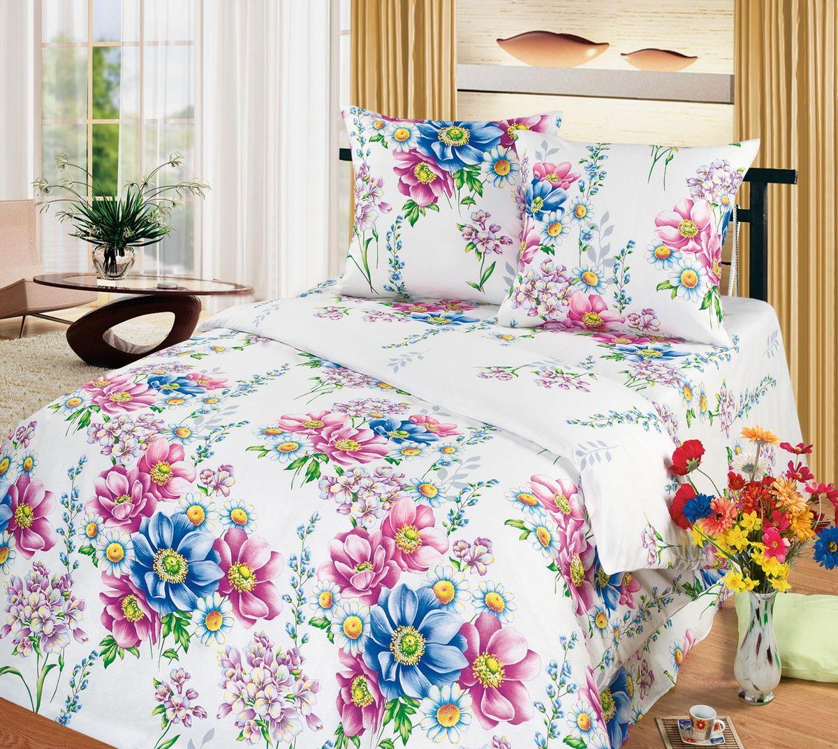 Комплект белья Cleo Акварель, 2-спальный, наволочки 70x7020/309-BКоллекция постельного белья из бязи CLEO – это классика сна. Вся коллекция выполнена из 100% хлопка, т.е. во время сна будет комфортно в любое время года! Благодаря пигментному способу нанесение печати, даже после многократных стирок (деликатный режим), постельное белье сохраняет свой первоначальный вид. Постельное белье из бязи имеет ряд уникальных свойств: экологичность, гипоаллергенность, благодаря особому способу переплетения нитей в полотне, обеспечивается особая плотность ткани, что делает ее устойчивой к износу, сохраняется внешний вид на долгие годы, загрязнения прекрасно отстирываются любыми средствами, не садится, легко гладится, не накапливает статического электричества, благодаря составу из 100% хлопка, обладает исключительной терморегуляцией. Комплект состоит из пододеяльника, двух наволочек и простыни.