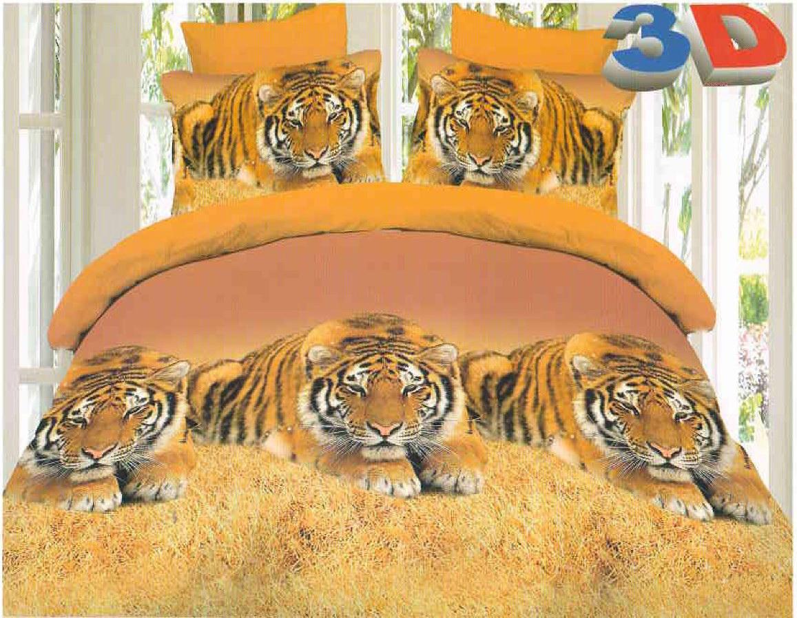 Комплект белья Cleo Амурский тигр, 2-спальный, наволочки 70x7020/334-BКоллекция постельного белья из бязи CLEO – это классика сна. Вся коллекция выполнена из 100% хлопка, т.е. во время сна будет комфортно в любое время года! Благодаря пигментному способу нанесение печати, даже после многократных стирок (деликатный режим), постельное белье сохраняет свой первоначальный вид. Постельное белье из бязи имеет ряд уникальных свойств: экологичность, гипоаллергенность, благодаря особому способу переплетения нитей в полотне, обеспечивается особая плотность ткани, что делает ее устойчивой к износу, сохраняется внешний вид на долгие годы, загрязнения прекрасно отстирываются любыми средствами, не садится, легко гладится, не накапливает статического электричества, благодаря составу из 100% хлопка, обладает исключительной терморегуляцией. Комплект состоит из пододеяльника, двух наволочек и простыни.