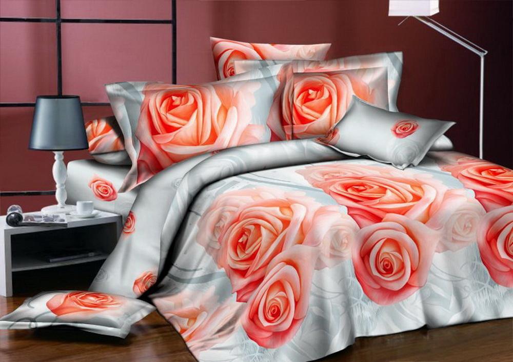 Комплект белья Cleo Коралловые розы, евро, наволочки 70x7030/345-BКоллекция постельного белья из бязи CLEO – это классика сна. Вся коллекция выполнена из 100% хлопка, т.е. во время сна будет комфортно в любое время года! Благодаря пигментному способу нанесение печати, даже после многократных стирок (деликатный режим), постельное белье сохраняет свой первоначальный вид. Постельное белье из бязи имеет ряд уникальных свойств: экологичность, гипоаллергенность, благодаря особому способу переплетения нитей в полотне, обеспечивается особая плотность ткани, что делает ее устойчивой к износу, сохраняется внешний вид на долгие годы, загрязнения прекрасно отстирываются любыми средствами, не садится, легко гладится, не накапливает статического электричества, благодаря составу из 100% хлопка, обладает исключительной терморегуляцией. Комплект состоит из пододеяльника, двух наволочек и простыни.