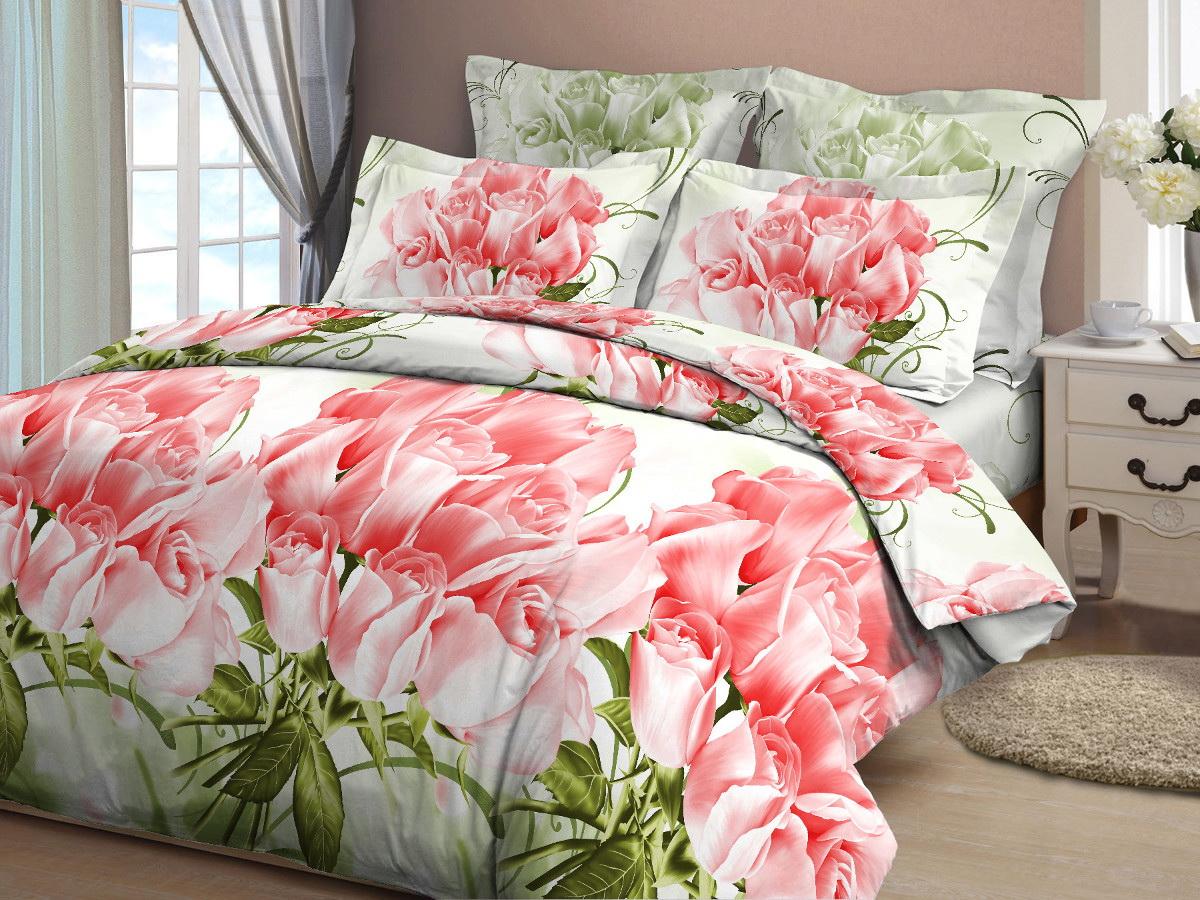 Комплект белья Cleo Коллекционные розы, евро, наволочки 70x70, цвет: розовый30/358-BКомплект постельного белья Cleo выполнен из высококачественной бязи (100% хлопок), которая идеально подходит для любого времени года Постельное белье из бязи имеет ряд уникальных свойств: экологичность, гипоаллергенность, сохраняет внешний вид на долгие годы, не садится, легко гладится, не накапливает статического электричества, обладает исключительной терморегуляцией, загрязнения прекрасно отстирываются любыми средствами. Благодаря особому способу переплетения нитей в полотне, обеспечивается особая плотность ткани, что делает ее устойчивой к износу. Высокая плотность – это залог прочности и долговечности, однако она не влияет на удовольствие от прикосновения. Благодаря пигментному способу нанесения печати даже после многократных стирок в деликатном режиме постельное белье сохраняет свой первоначальный вид. Такое постельное белье окутает вас своей нежностью и подарит спокойный комфортный сон, а яркие оригинальные дизайны стильно дополнят интерьер спальни.