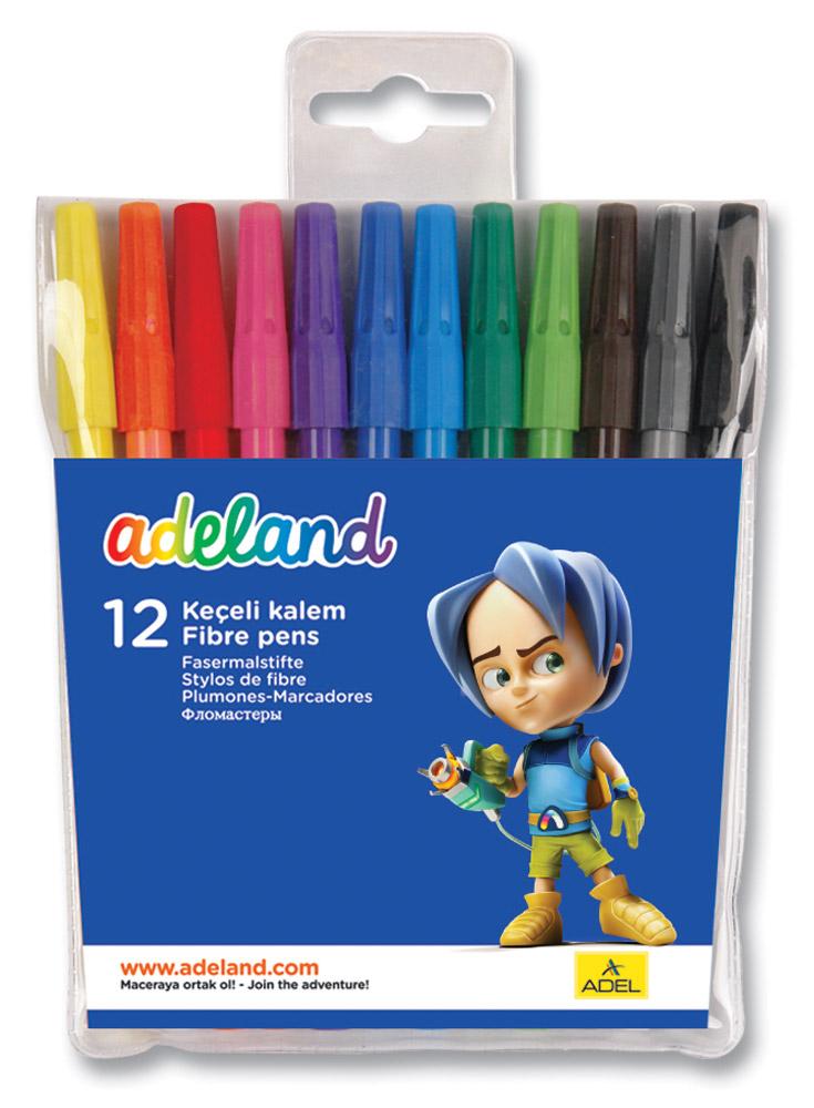 Adel Набор цветных фломастеров Adeland 12 шт