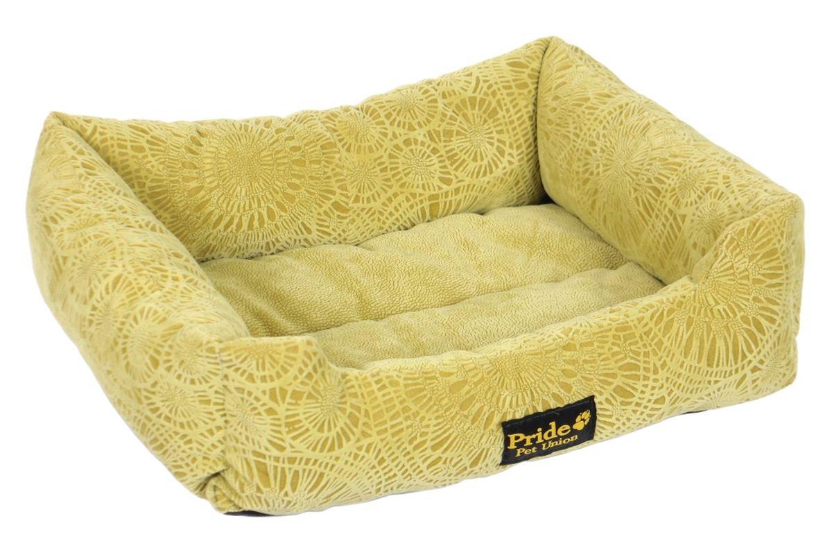 Лежак для животных Pride Фортуна, цвет: зеленый, 52 х 41 х 10 см10012310