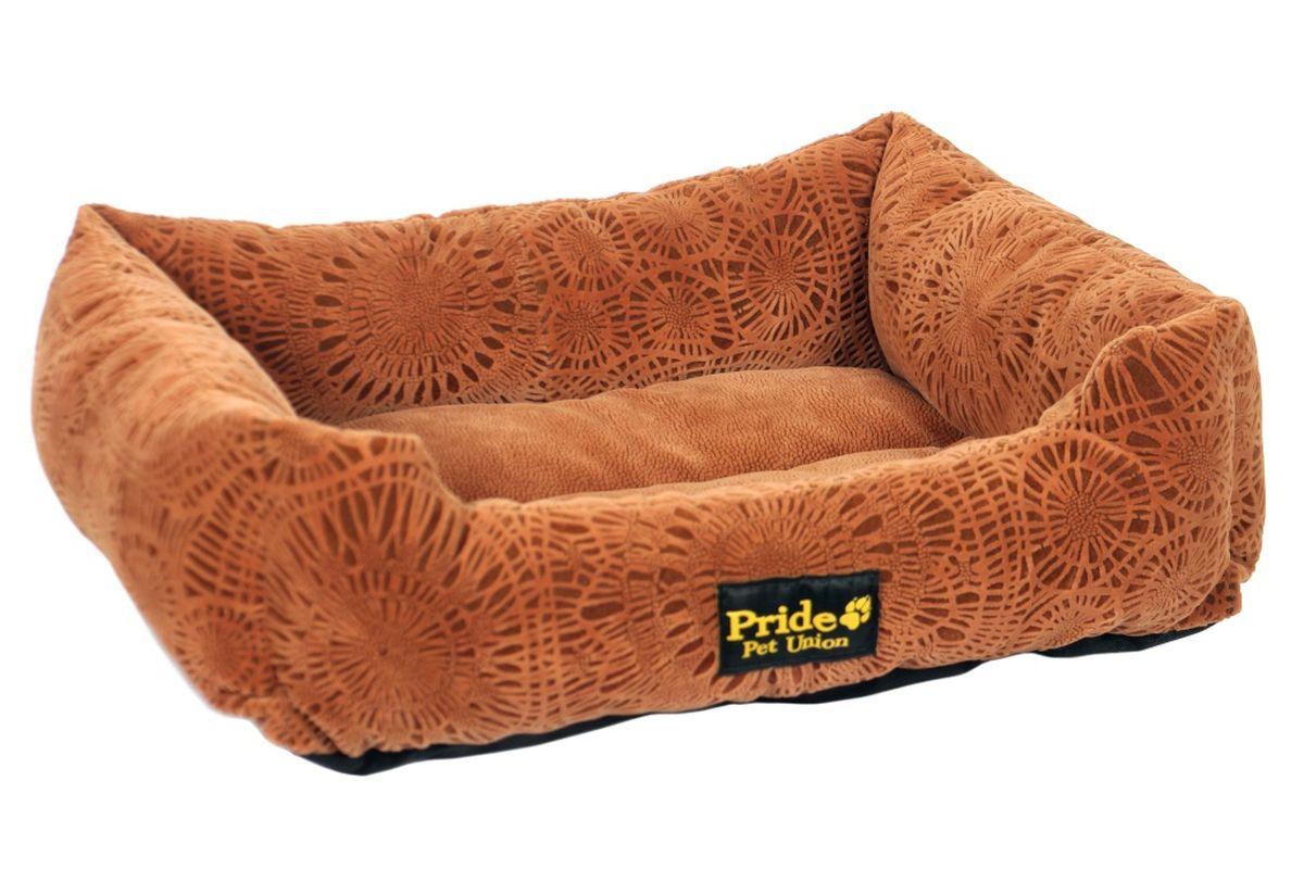 Лежак для животных Pride Фортуна, цвет: шоколад, 70 х 60 х 23 см10012332