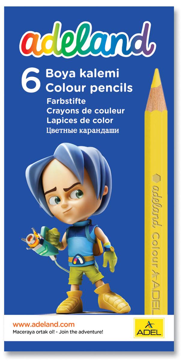 Adel Набор цветных карандашей Adeland 6 шт 211-2335-100
