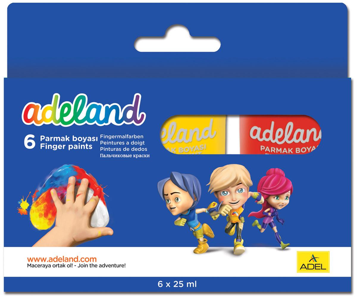 Adel Краски пальчиковые Adeland 6 цветов