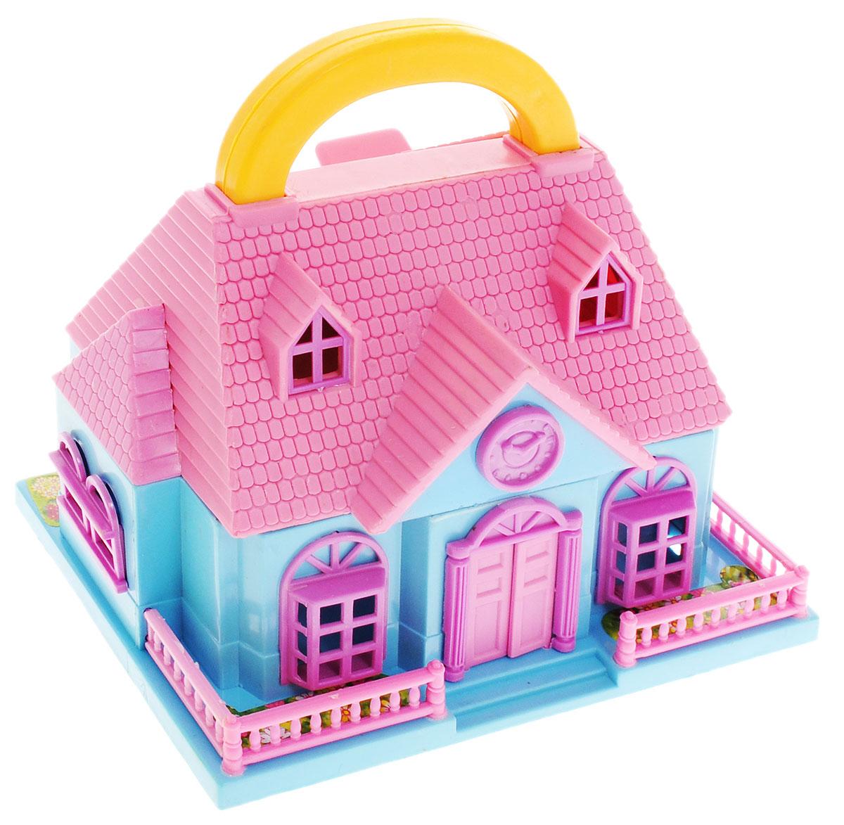 ABtoys Дом для кукол Школа цвет розовый голубойPT-00228_розовый, голубойШкола для кукол ABtoys с удобной ручкой для переноски просто необходима для веселой жизни куколок! Школа выполнена из прочного безопасного пластика. Дом имеет красивый фасад с часами, маленький заборчик и оснащен откидным балконом и садом. В наборе имеются две фигурки и множество аксессуаров, которыми можно обустроить школьный класс. Набор поможет детям представить себя в роли дизайнера, занимающегося обстановкой и декором помещения для любимой куколки, а также станет главным атрибутом для увлекательных сюжетно-ролевых игр. Такой набор непременно придется по душе вашему ребенку. Порадуйте свою принцессу таким замечательным подарком!