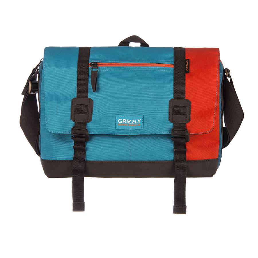 Сумка молодежная Grizzly, цвет: оранжевый, голубой, синий. 14 л. ММ-619-3/1ММ-619-3/1Молодежная сумка Grizzly изготовлена из высококачественного плотного текстиля. Дно уплотнено материалом из экокожи. Сумка имеет одно отделение, которое закрывается на клапан с застежками-крючками, регулируемыми по высоте, и застежку-молнию. Внутри сумки расположен карман для ноутбука или планшета, а также вшитый карман на застежке-молнии. Снаружи, с фронтальной стороны сумки есть один прорезной карман на застежке-молнии и два открытых кармашка. На клапане также располагается прорезной карман на застежке-молнии, и с тыльной стороны - боковой карман на застежке-молнии. Изделие оснащено дополнительной ручкой-петлей и регулируемым плечевым ремнем. Самовыражение - одна из базовых потребностей современного человека. Оригинальные, яркие, остромодные рюкзаки от Grizzly наилучшим образом подчеркнут вашу креативность, индивидуальность и неповторимый стиль!