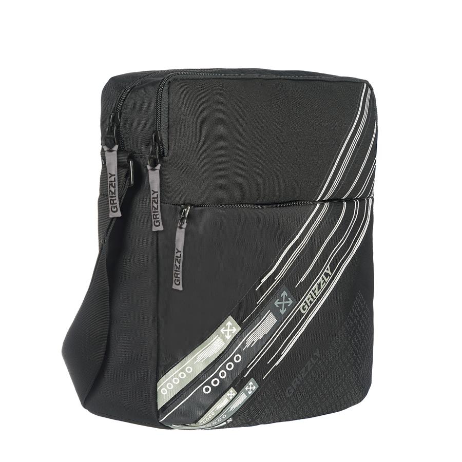 Сумка молодежная Grizzly, цвет: черный-серый. 12 л. ММ-502-3/2ММ-502-3/2Молодежная сумка, одно отделение, плоский передний карман на молнии, задний карман на молнии, внутренний карман на молнии, регулируемый плечевой ремень