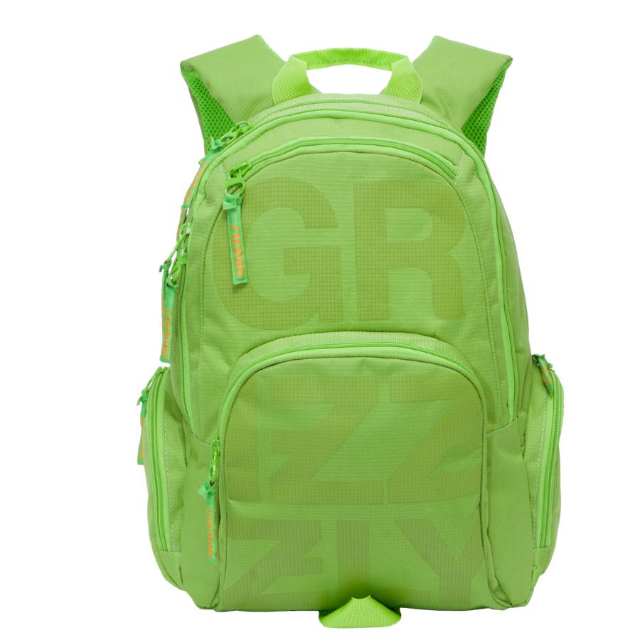 Рюкзак молодежный Grizzly, цвет: салатовый. 26 л. RU-706-1/3RU-706-1/3Рюкзак молодежный, два отделения, карман на молнии на передней стенке, объемный карман на молнии на передней стенке, объемные боковые карманы на молнии, внутренний карман-пенал для карандашей, внутренний карман под гаджет и карман на молнии, жесткая анатомическая спинка, дополнительная ручка-петля, укрепленные лямки