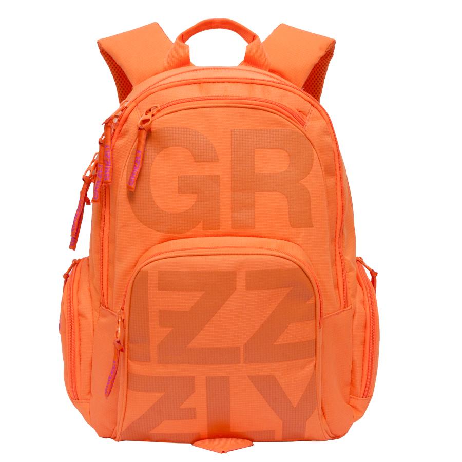 Рюкзак молодежный Grizzly, цвет: оранжевый. 26 л. RU-706-1/2RU-706-1/2Рюкзак молодежный, два отделения, карман на молнии на передней стенке, объемный карман на молнии на передней стенке, объемные боковые карманы на молнии, внутренний карман-пенал для карандашей, внутренний карман под гаджет и карман на молнии, жесткая анатомическая спинка, дополнительная ручка-петля, укрепленные лямки