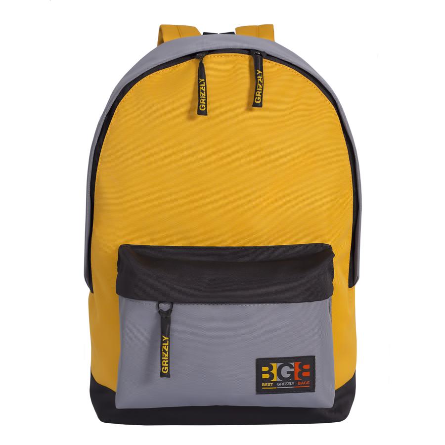 Рюкзак молодежный Grizzly, цвет: черный-желтый. 18 л. RU-704-3/1RU-704-3/1Рюкзак молодежный, одно отделение, объемный карман на молнии на передней стенке, внутренний подвесной карман на молнии, укрепленная спинка, дополнительная ручка-петля, укрепленные лямки