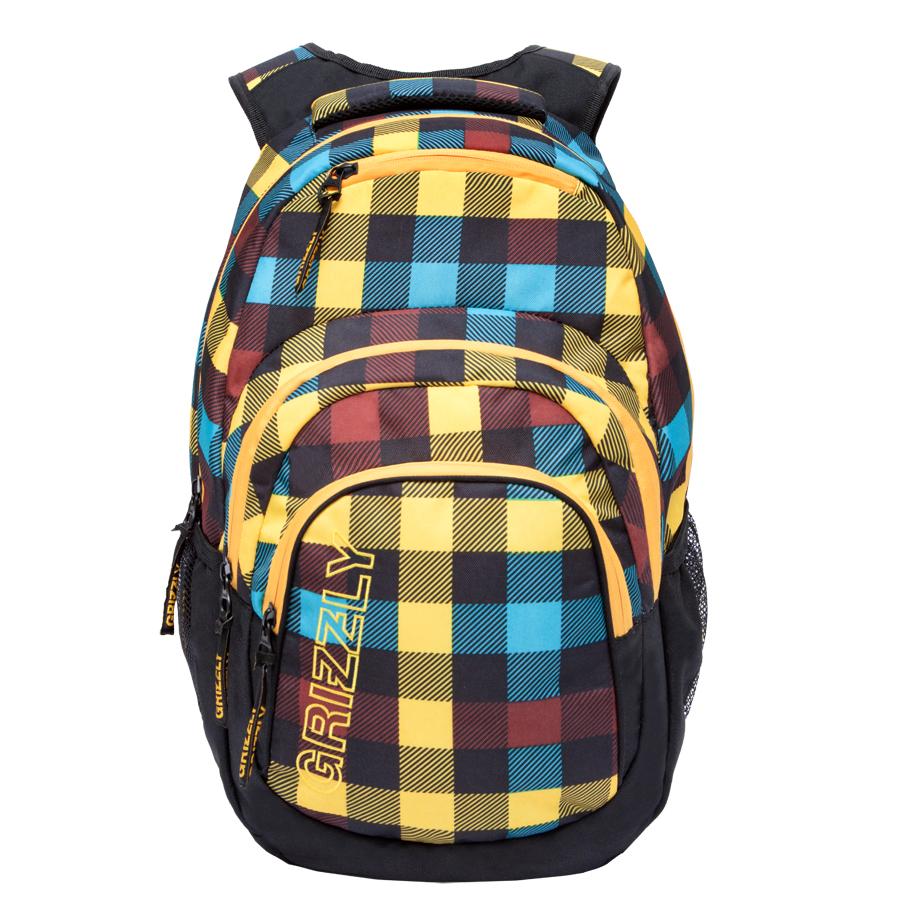 Рюкзак молодежный Grizzly, цвет: черный-желтый. 32 л. RU-704-2/1RU-704-2/1Рюкзак молодежный, одно отделение, карман на молнии на передней стенке, объемный карман на молнии на передней стенке, боковые карманы из сетки, внутренний составной пенал-органайзер, внутренний укрепленный карман для ноутбука, укрепленная спинка, карман быстрого доступа в верхней части рюкзака, мягкая укрепленная ручка, нагрудная стяжка-фиксатор, укрепленные лямки