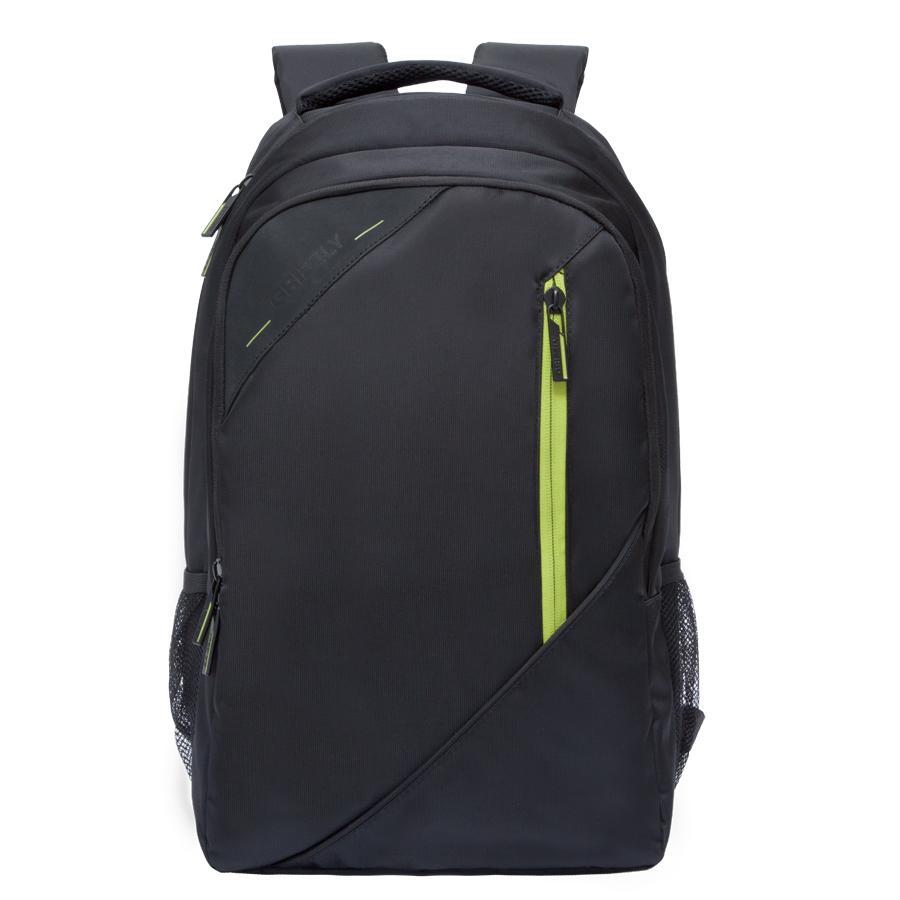 Рюкзак молодежный Grizzly, цвет: черный-салатовый. 32 л. RU-700-3/3RU-700-3/3Рюкзак молодежный, два отделения, карман на молнии на передней стенке, боковые карманы из сетки, внутренний карман на молнии, внутренний составной пенал-органайзер, внутренний укрепленный карман для ноутбука, жесткая анатомическая спинка, карман быстрого доступа на задней стенке, мягкая укрепленная ручка, нагрудная стяжка-фиксатор