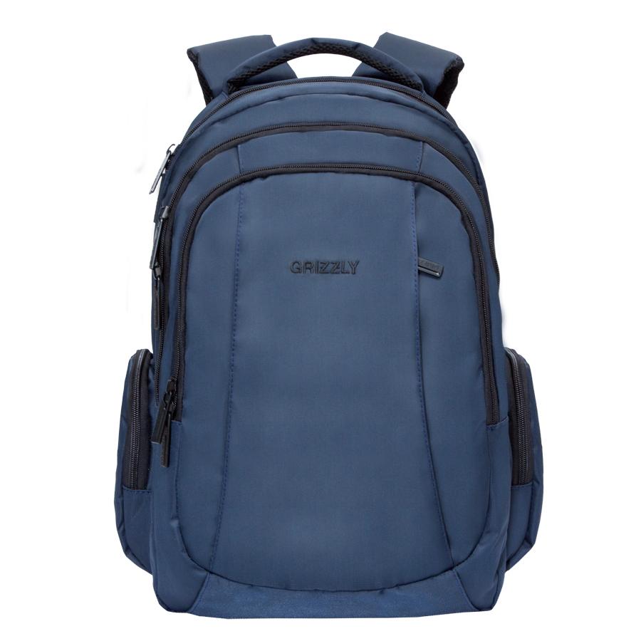 Рюкзак молодежный Grizzly, цвет: синий. 32 л. RU-700-2/2RU-700-2/2Рюкзак молодежный, три отделения, карман на молнии на передней стенке, объемные боковые карманы на молнии, внутренний карман на молнии, внутренний составной пенал-органайзер, внутренний укрепленный карман для ноутбука, анатомическая спинка, мягкая укрепленная ручка, нагрудная стяжка-фиксатор, укрепленные лямки