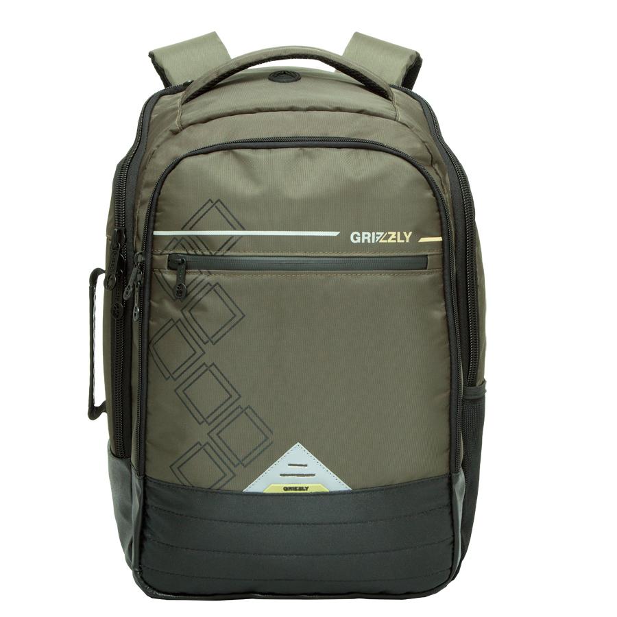 Рюкзак молодежный Grizzly, цвет: оливковый. 26 л. RU-616-1/3RU-616-1/3Рюкзак молодежный, два отделения, карман на молнии на передней стенке, боковой карман , внутренний карман, внутренний карман на молнии, внутренний составной пенал-органайзер, внутренний укрепленный карман для ноутбука, укрепленная спинка, карман для аудиоплеера, мягкая укрепленная ручка, дополнительная ручка-петля, дополнительная укрепленная ручка, нагрудная стяжка-фиксатор, укрепленные лямки, брелок для ключей