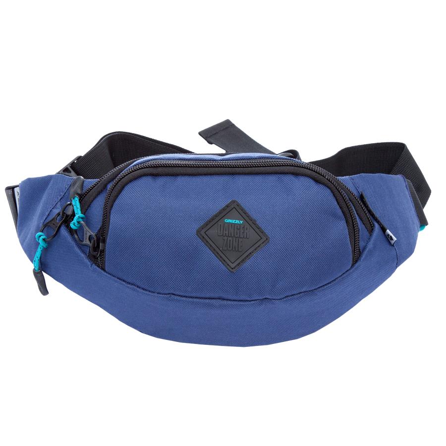 Сумка поясная Grizzly, цвет: синий. 2 л. MS-602-3/9MS-602-3/9Поясная сумка, два отделения, задний карман на молнии