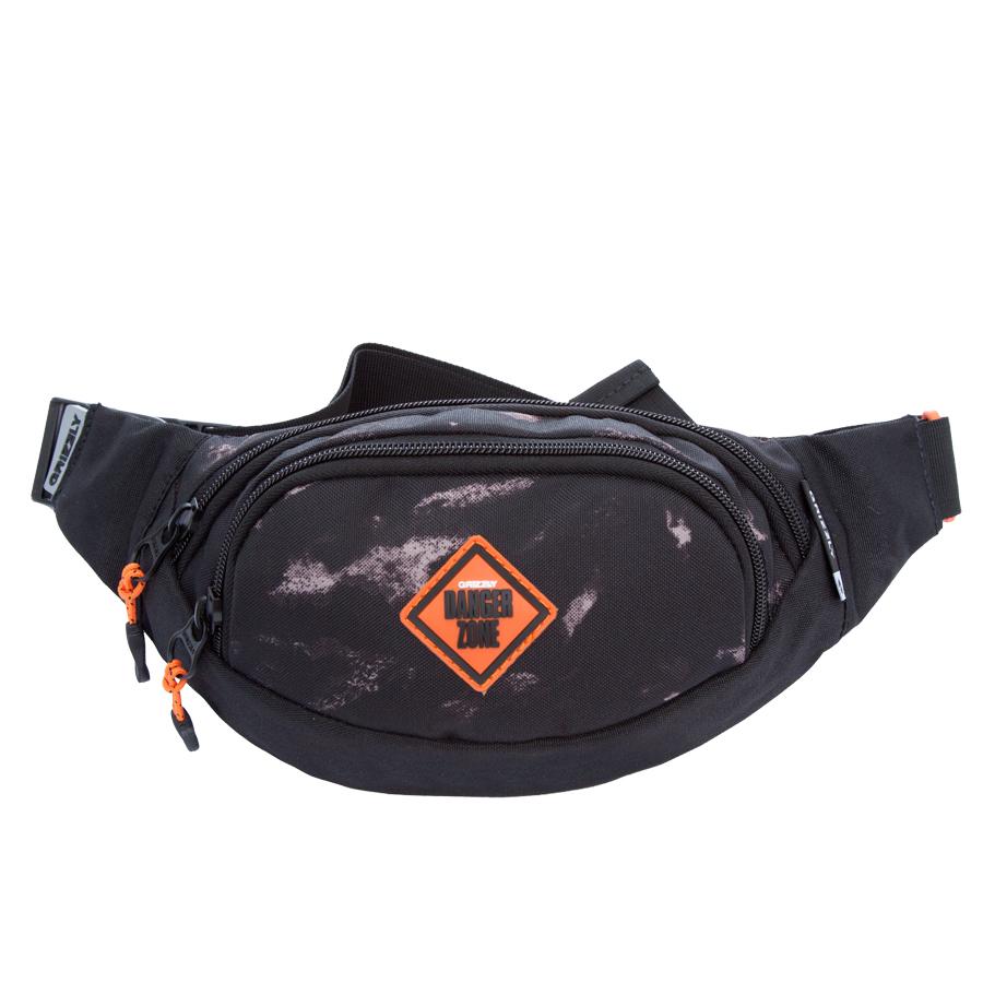 Сумка поясная Grizzly, цвет: черный. 2 л. MS-602-3/5MS-602-3/5Поясная сумка, два отделения, задний карман на молнии