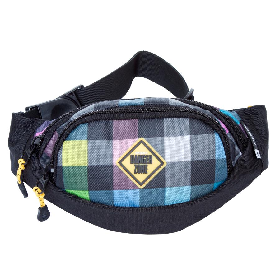 Сумка поясная Grizzly, цвет: черный-желтый. 2 л. MS-602-3/4MS-602-3/4Поясная сумка, два отделения, задний карман на молнии