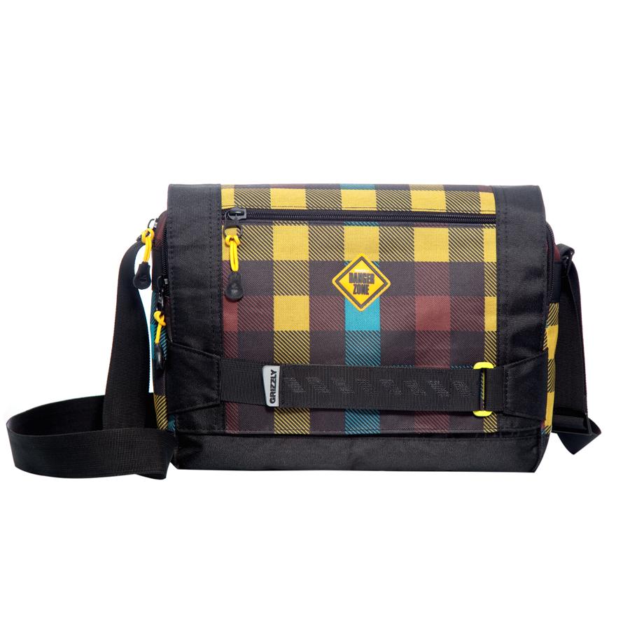 Сумка молодежная Grizzly, цвет: черный-желтый. 14 л. MM-602-2/4MM-602-2/4Молодежная сумка, два отделения, клапан на магнитных кнопках с карманом на молнии, два плоских передних кармана на молнии, задний карман на молнии, внутренний карман на молнии, регулируемый плечевой ремень