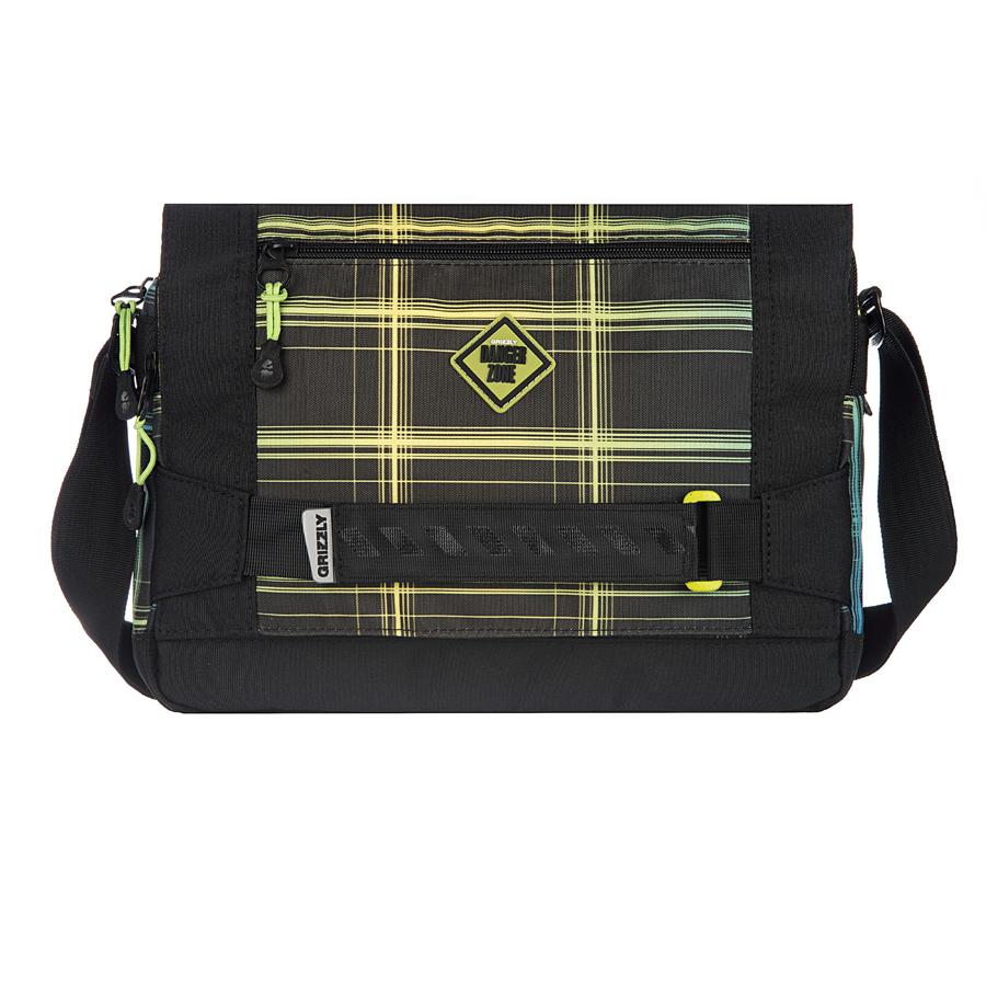Сумка молодежная Grizzly, цвет: салатовый. 14 л. MM-602-2/2MM-602-2/2Молодежная сумка, два отделения, клапан на магнитных кнопках с карманом на молнии, два плоских передних кармана на молнии, задний карман на молнии, внутренний карман на молнии, регулируемый плечевой ремень