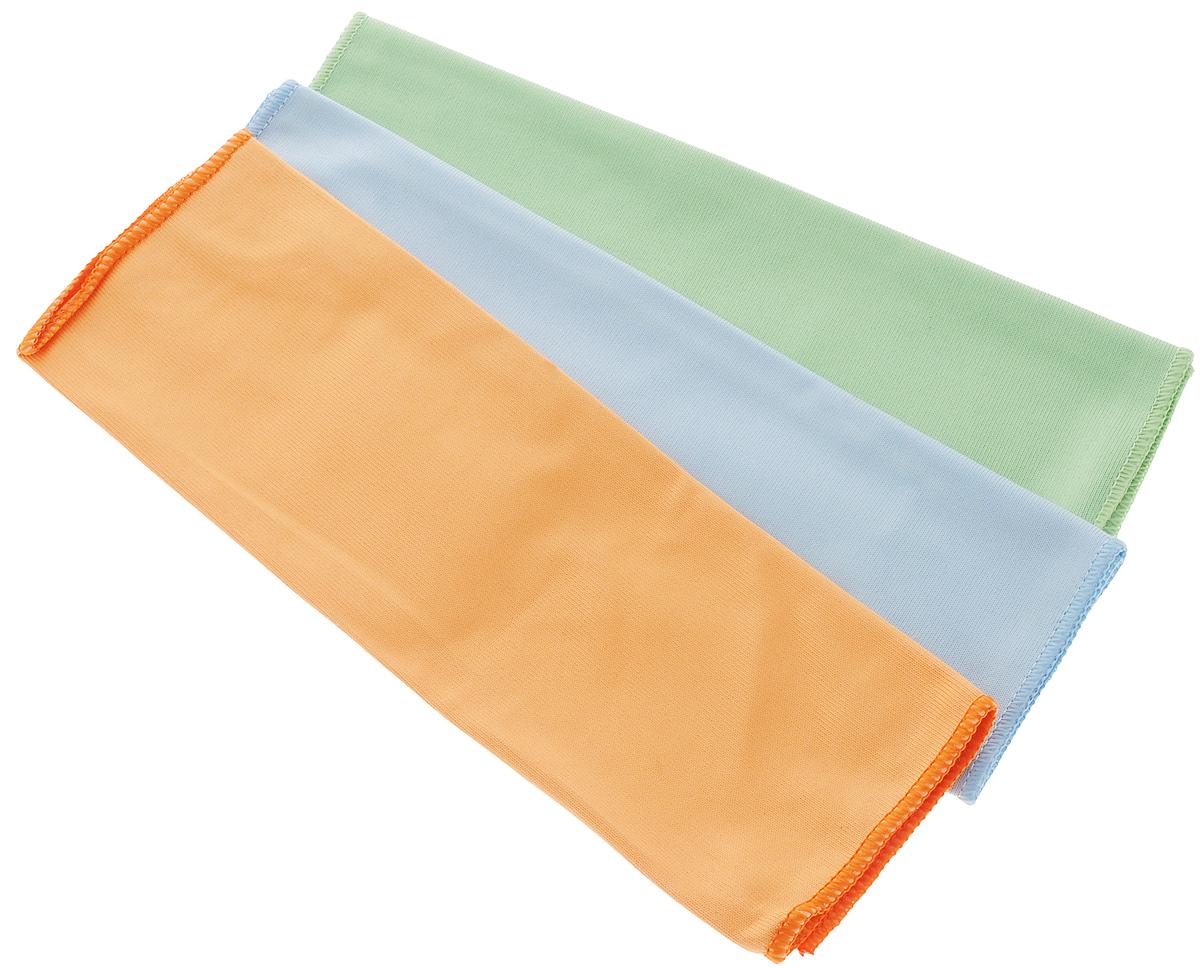 Набор салфеток для мытья и полировки автомобиля Runway Racing, 38 х 38 см, 3 штRR8013Набор многофункциональных салфеток Runway Racing выполнен из высококачественной микрофибры. Микрофибровое полотно удаляет грязь с поверхности намного эффективнее, быстрее и значительно более бережно в сравнении с обычной тканью, что существенно снижает время на проведение уборки, поскольку отсутствует необходимость протирать одно и то же место дважды. Набор обладает уникальной способностью быстро впитывать большой объем жидкости. Клиновидные микроскопические волокна захватывают и легко удерживают частички пыли, жировой и никотиновый налет, микроорганизмы, в том числе болезнетворные и вызывающие аллергию. Салфетка великолепно удаляет пыль и грязь. Протертая поверхность становится идеально чистой, сухой, блестящей, без разводов и ворсинок. Микрофибра устойчива к истиранию, ее можно быстро вернуть к первоначальному виду с помощью машинной стирки при малом количестве моющих средств. Размер салфетки: 38 х 38 см.