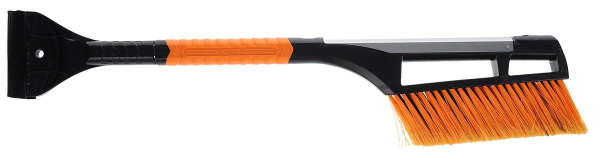 Щетка для очистки от снега Koto, телескопическая, цвет: оранжевый, черный, стальной, 65-90 см. BWN-109BWN-109_оранжевыйЩетка для чистки снега Koto имеет легкую алюминиевую конструкцию. Она оснащена телескопической рукояткой, которая позволяет увеличивать длину. Щетина изготовлена из искусственного материала средней жесткости. С обратной стороны ручки расположен скребок из прочного пластика. Длина щетки: 65-90 см. Длина рабочей части: 21 см.