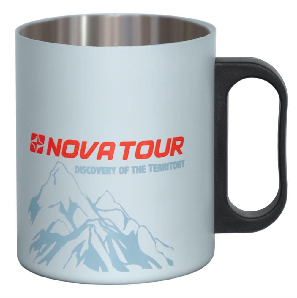 Термокружка Nova Tour, цвет: серый, 0,35 л95810-974-00Предназначена для длительного сохранения тепла вашего напитка