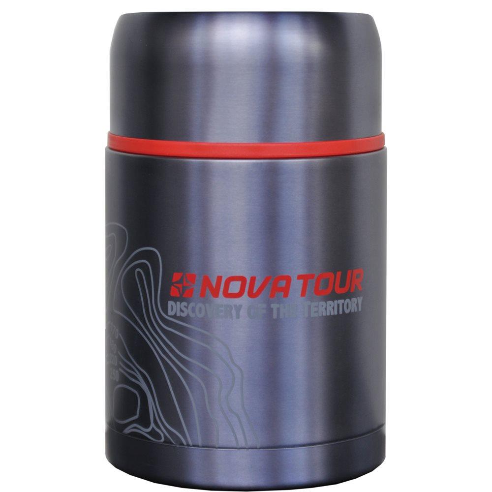 Термос Nova Tour Капсула, цвет: серый, 0,8 л95298-912-00Компактный термос, ёмкостью 0,8л, выполненный из пищевой нержавеющей стали, с поворотным клапаном (Достаточно повернуть пробку на пол-оборота чтобы налить содержимое из термоса), который дает возможность при наливании не открывать термос целиком для меньшего охлаждения содержимого. Широкое горло дает возможность использовать термос для первых и вторых блюд.
