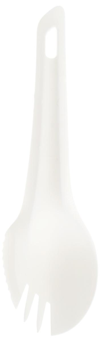 Ловилка Wildo Spork, цвет: белый, 16,4 х 4,8 см3119Ловилка Wildo Spork идеальный инструмент для любителей похода и отдыха на природе. Ловилка Wildo Spork является ложкой, вилкой и ножом одновременно. Зачерпывайте суп, накладывайте еду или нарежьте продукты одним инструментом. Изделие изготовлено из прочного и высококачественного полиамида. Размер: 16,4 х 4,8 см.