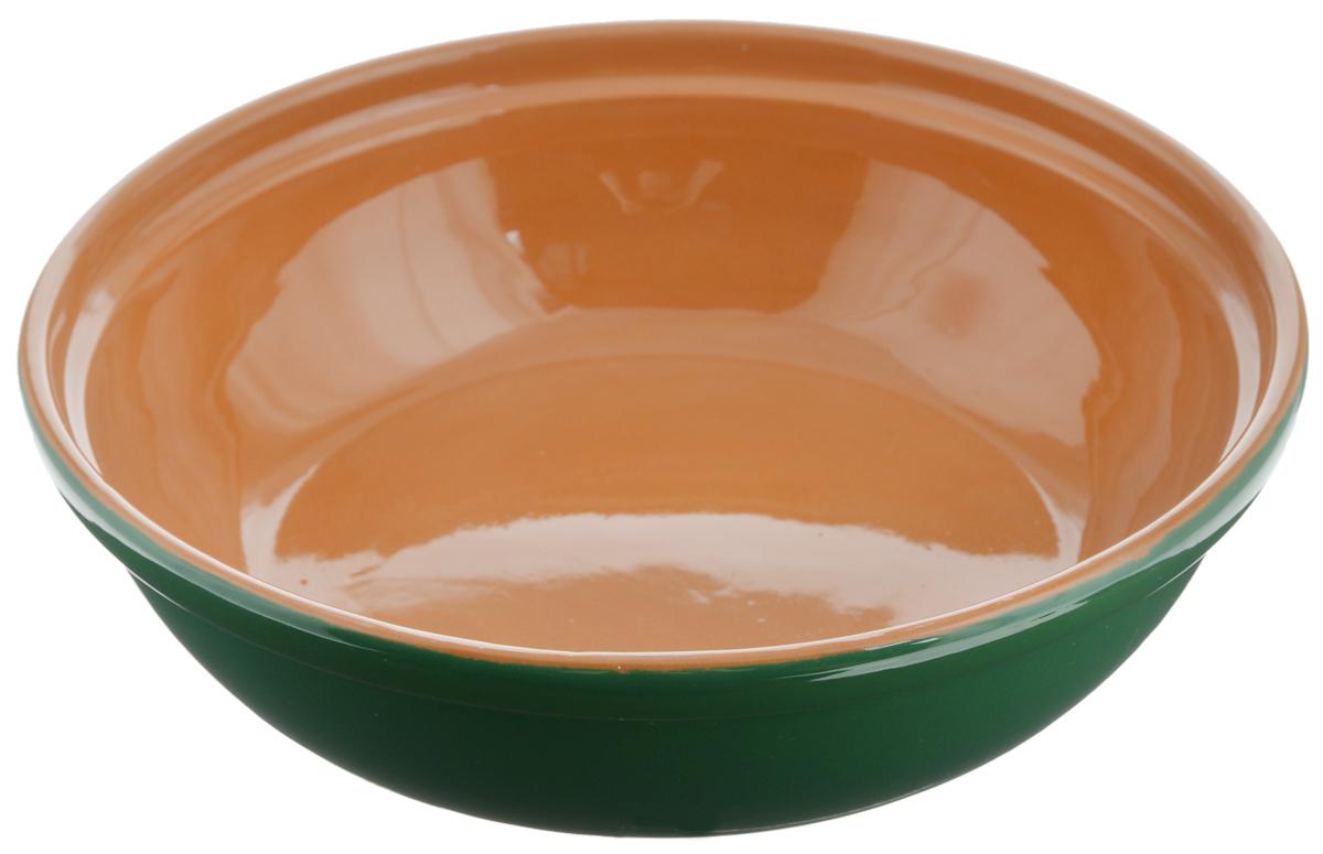 Салатник Борисовская керамика Модерн, цвет: зеленый, коричневый, 1 лРАД00000830_зеленый, коричневыйСалатник Борисовская керамика Модерн выполнен из высококачественной глазурованной керамики. Этот удобный салатник придется по вкусу любителям здоровой и полезной пищи. Благодаря современной удобной форме, изделие многофункционально и может использоваться хозяйками на кухне как в виде салатника, так и для запекания продуктов, с последующим хранением в нем приготовленной пищи. Посуда термостойкая. Можно использовать в духовке и микроволновой печи. Диаметр (по верхнему краю): 22 см. Высота стенки: 6 см.