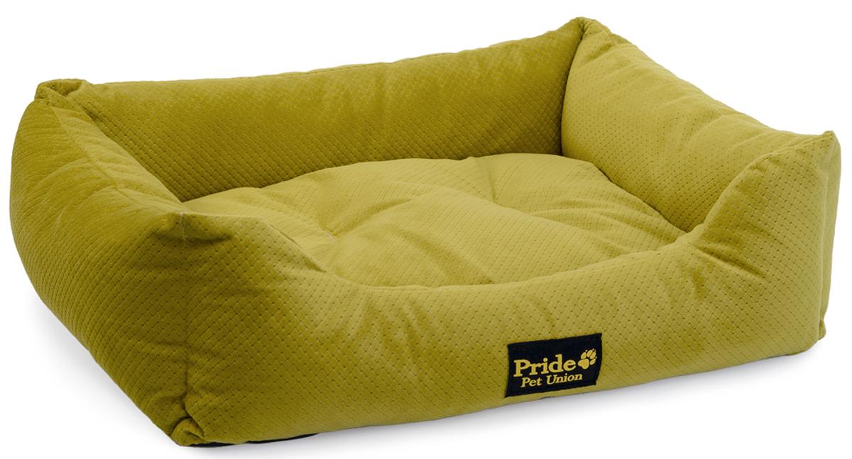Лежак для животных Pride Престиж, цвет: зеленый, 90 х 80 х 25 см10012143Уютный лежак для животных Pride Престиж обязательно понравится вашему питомцу. В нем питомец будет счастлив, так как лежак очень мягкий и приятный. Он будет проводить все свое свободное время в нем, отдыхать, наслаждаясь удобством. Лежак выполнен из мягкой качественной ткани, также имеется подушка, которая легко вынимается и ее можно использовать отдельно.