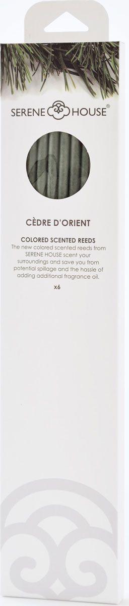 Палочки ароматические Serene House Восточный кедр, 6 шт152505018Мягкий свежий аромат на основе мускуса и древесных аккордов, включающий в себя зеленые ноты, которые перекликаются с цветочно-специевым звучанием.