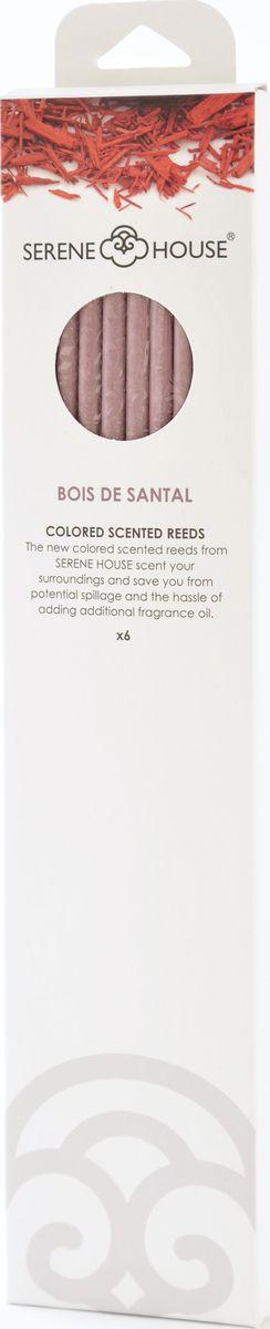 Палочки ароматические Serene House Белый сандал, 6 шт152505021Плотный восточный аромат сандала с оттенкамит розы, кедра и мускуса.