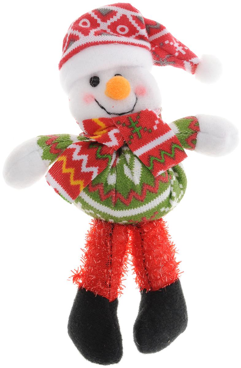 Украшение новогоднее Феникс-Презент Снеговик, высота 17 см42536Новогоднее украшение Феникс-Презент Снеговик отлично подойдет для декорации вашего дома. Изделие выполнено из полиэстера. Украшение Феникс-Презент Снеговик - символ Нового года. Она несет в себе волшебство и красоту праздника. Создайте в своем доме атмосферу веселья и радости.