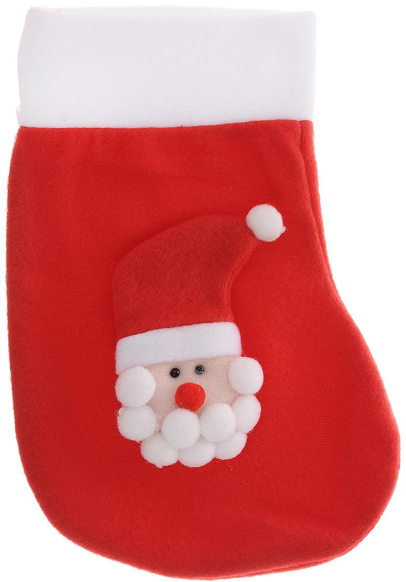 Украшение новогоднее подвесное Magic Time Дед Мороз в красном колпаке, 24,5 x 16,5 см42512Новогоднее украшение Magic Time Дед Мороз в красном колпаке прекрасно подойдет для праздничного декора вашего дома. Сувенир выполнен в виде носка из полиэстера. Он украшен аппликацией в Деда Мороза в колпаке. Изделие оснащено текстильной петелькой для подвешивания. Такая оригинальная фигурка оформит интерьер вашего дома или офиса в преддверии Нового года. Оригинальный дизайн и красочное исполнение создадут праздничное настроение. Кроме того, это отличный вариант подарка для ваших близких и друзей.
