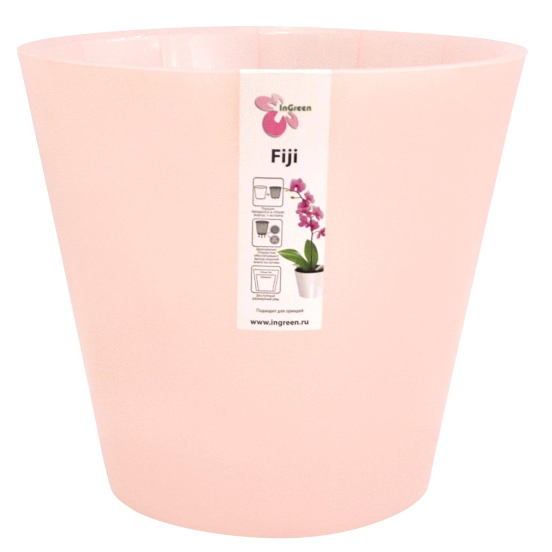 Горшок для цветов InGreen Фиджи. Орхидея, цвет: розовый, диаметр 16 смING1558РЗПЕРЛГоршок InGreen Фиджи. Орхидея, выполненный из высококачественного полипропилена (пластика), предназначен для выращивания комнатных цветов, растений и трав. Специальная конструкция обеспечивает вентиляцию в корневой системе растения. Такой горшок порадует вас современным дизайном и функциональностью, а также оригинально украсит интерьер любого помещения. Диаметр горшка (по верхнему краю): 16 см. Высота горшка: 14,5 см. Объем горшка: 1,6 л.