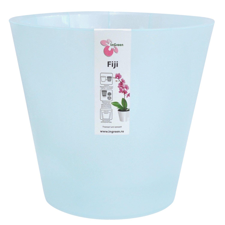 Горшок для цветов InGreen Фиджи. Орхидея, цвет: голубой, диаметр 23 смING1559ГЛПЕРЛГоршок InGreen Фиджи. Орхидея, выполненный из высококачественного полипропилена (пластика), предназначен для выращивания комнатных цветов, растений и трав. Специальная конструкция обеспечивает вентиляцию в корневой системе растения. Такой горшок порадует вас современным дизайном и функциональностью, а также оригинально украсит интерьер любого помещения. Диаметр горшка (по верхнему краю): 23 см. Высота горшка: 20,8 см. Объем горшка: 5 л.