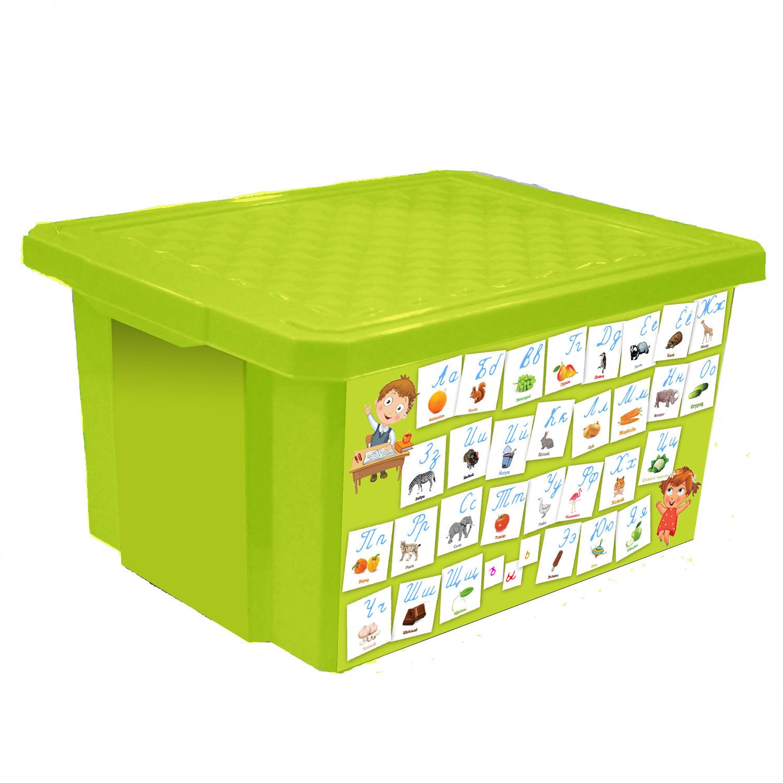 Ящик для хранения игрушек Little Angel X-BOX. Обучайка. Азбука, 17 лLA1023ОБСЛУниверсальный ящик для хранения Little Angel X-BOX. Обучайка. Азбука с новым обучающим декором - это простой и доступный способ познакомить малыша с алфавитом а также объяснить отличия написания прописных и печатных букв. Такой функциональный объект для хранения несомненно станет достойным дополнением пространства развивающей среды для вашего подрастающего гения. Ящик декорирован с помощью технологии In Mould Labeling. Декор ящика устойчив при мытье, дольше сохраняет насыщенность цветов . Прочный каркас ящика позволит хранить как легкие вещи, так и более тяжелый груз. Уникальный обучающий декор линии Обучайка разработан при участии педагогов ДОУ и детских психологов.