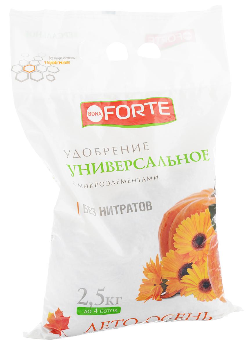 """Удобрение универсальное """"Bona Forte"""", с микроэлементами, гранулированное, 2,5 кг"""