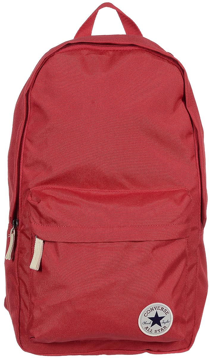 Рюкзак годской Converse Core Poly Backpack, цвет: красный. 1000265160010002651600Стильный рюкзак Converse Core Poly Backpack выполнен из плотного полиэстера. Изделие имеет одно основное отделение, которое закрывается на застежку-молнию. Внутри расположен мягкий карман для планшета. Снаружи, на передней стенке находится объемный накладной карман на застежке-молнии. Рюкзак оснащен широкими регулирующими лямками и удобной ручкой для переноски в руках. Внутренняя сторона лямок оснащена сетчатыми вставками, которые обеспечивают воздухопроницаемость и комфорт во время носки. Стильный городской рюкзак идеально подойдет для повседневного использования.