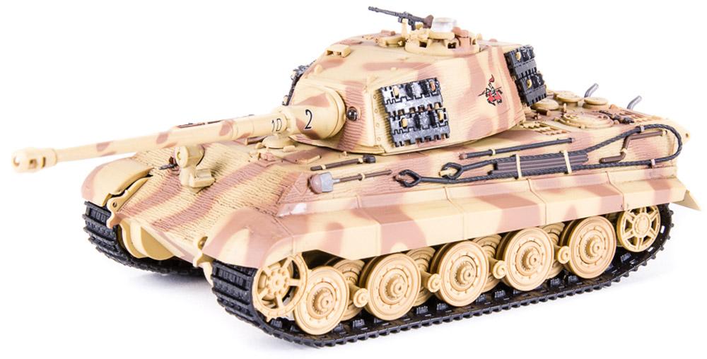 Pilotage Танк на радиоуправлении Королевский Тигр 505 цвет бежевыйRC9510Радиоуправляемая модель оборудована звуковой имитацией работы двигателя, выстрела пулемета и пушки. Модель способна повторять все движения прототипа, вплоть до поворота башни на 180 градусов. Модель оборудована инфракрасной пушкой для ведения танкового боя. При стрельбе динамики имитируют звук выстрела и происходит откат, создается впечатление, будто танк выстрелил настоящим снарядом. Резиновые гусеницы и позволяют модели преодолевать неровности ландшафта и взбираться на подъемы крутизной до тридцати процентов.