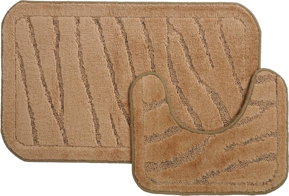 Набор ковриков для ванной MAC Carpet Рома. Линии, цвет: коричневый, 50 х 80 см, 50 х 40 см, 2 шт21880Набор MAC Carpet Рома. Линии, выполненный из полипропилена, состоит из двух ковриков для ванной комнаты, один из которых имеет вырез под унитаз. Противоскользящее основание изготовлено из термопластичной резины. Коврики мягкие и приятные на ощупь, отлично впитывают влагу и быстро сохнут. Высокая износостойкость ковриков и стойкость цвета позволит вам наслаждаться покупкой долгие годы. Можно стирать вручную или в стиральной машине на деликатном режиме при температуре 30°С.