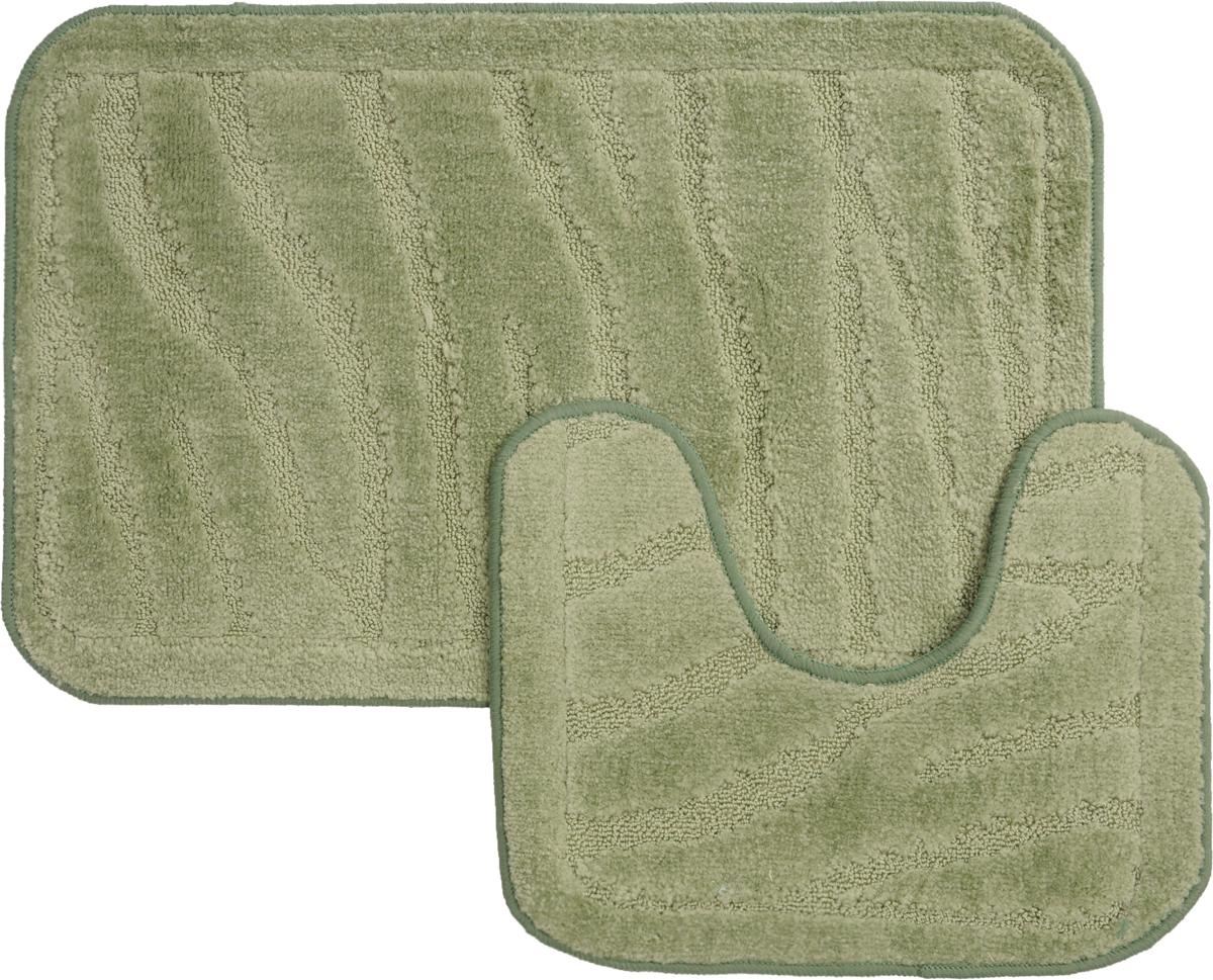 Набор ковриков для ванной MAC Carpet Рома. Линии, цвет: светло-зеленый, 50 х 80 см, 50 х 40 см, 2 шт21888Набор MAC Carpet Рома. Линии, выполненный из полипропилена, состоит из двух ковриков для ванной комнаты, один из которых имеет вырез под унитаз. Противоскользящее основание изготовлено из термопластичной резины. Коврики мягкие и приятные на ощупь, отлично впитывают влагу и быстро сохнут. Высокая износостойкость ковриков и стойкость цвета позволит вам наслаждаться покупкой долгие годы. Можно стирать вручную или в стиральной машине на деликатном режиме при температуре 30°С.