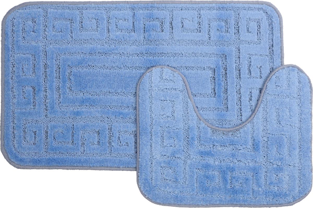 Набор ковриков для ванной MAC Carpet Рома. Версаче, цвет: голубой, 50 х 80 см, 50 х 40 см, 2 шт21868,11541-10001Набор MAC Carpet Рома. Версаче, выполненный из полипропилена, состоит из двух ковриков для ванной комнаты, один из которых имеет вырез под унитаз. Противоскользящее основание изготовлено из термопластичной резины. Коврики мягкие и приятные на ощупь, отлично впитывают влагу и быстро сохнут. Высокая износостойкость ковриков и стойкость цвета позволит вам наслаждаться покупкой долгие годы. Можно стирать вручную или в стиральной машине на деликатном режиме при температуре 30°С.